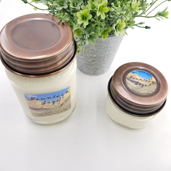 Mason Jar Soy Candle By Candle Barn - Large 16oz
