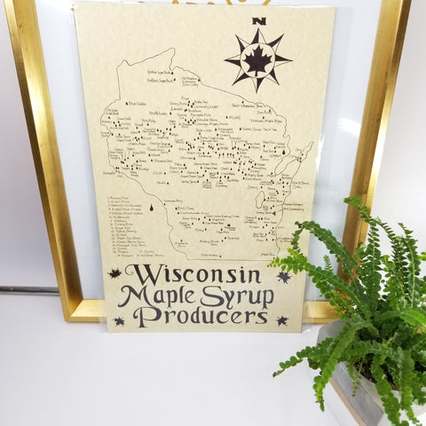 Wisconsin maple syrup Producers map