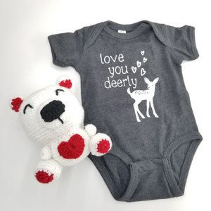 Baby Onesie & Toddler - Love You Deerly Shirt - Wisconsin Made