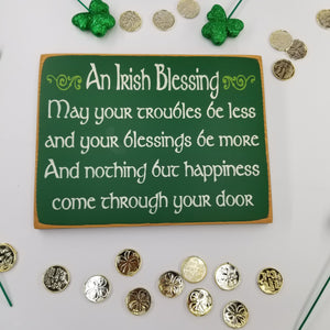 An Irish Blessings St. Patrick's Day Wooden Sign