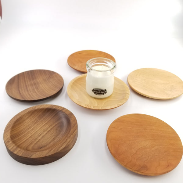 Wood Trinket - Candle Holder - Mini Wood Plate