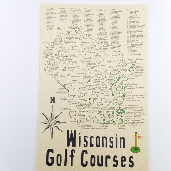Handmade golf map