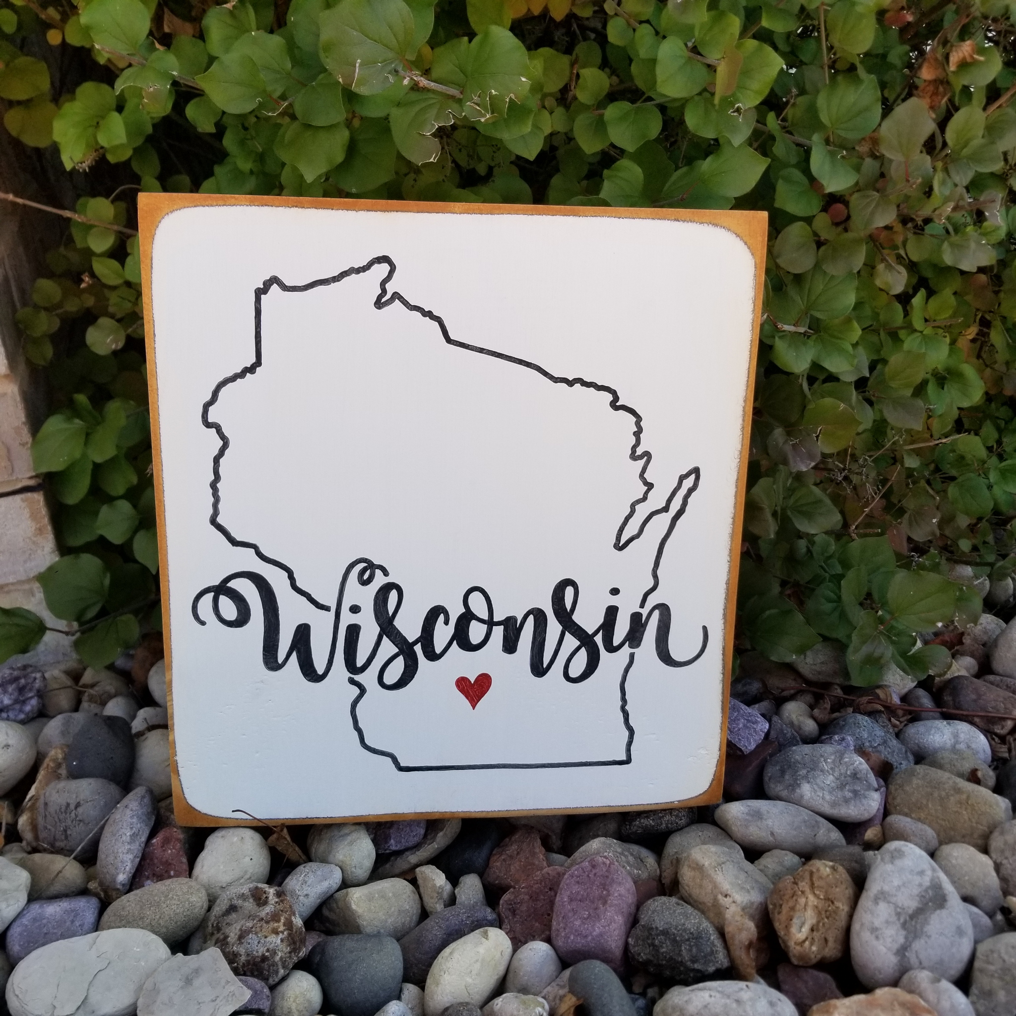 Wisconsin Wood sign