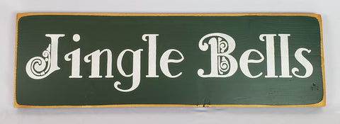 Jingle bells wooden sign