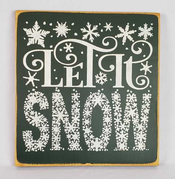 Let It Snow Porch Wood Sign