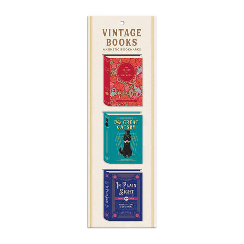 Magnetic Bookmarks Vintage Books