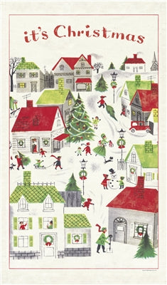 Christmas tea towel by Cavallini