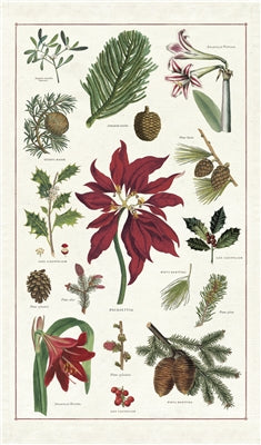 Christmas Botanica Tea Towel by Cavallini