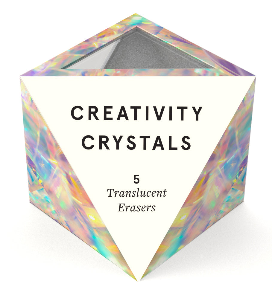 Creativity Crystals 5 Translucent Erasers