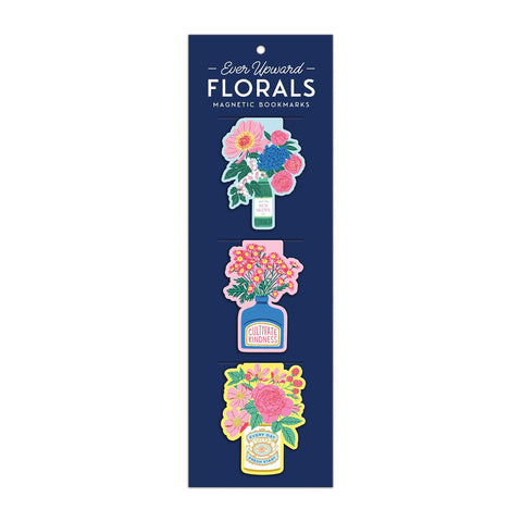 Magnetic Bookmarks Floral