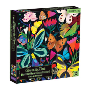 Jigsaw Puzzle - Glow In The Dark - Illuminated Butterflies - 500 Piece Puzzle
