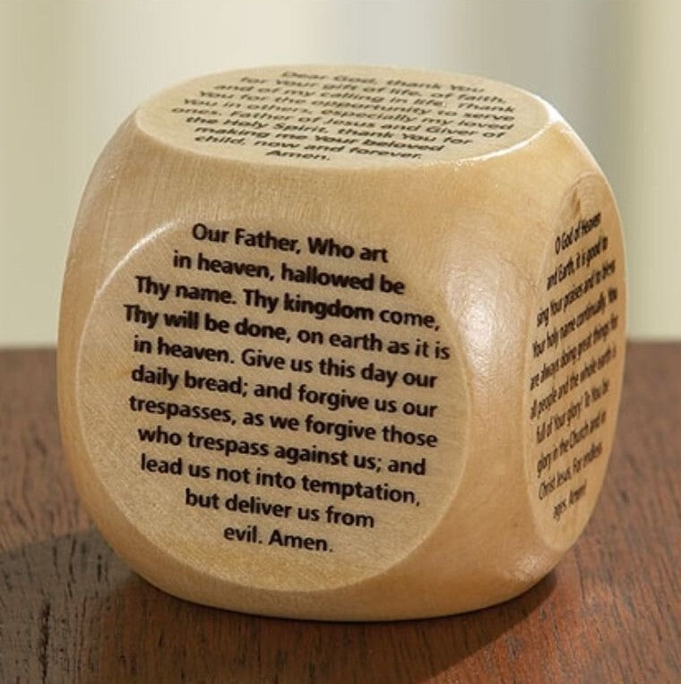 Prayer Cube - The Our Father Prayer - The Serenity Prayer - Prayer for Peace - Prayer of Thanks - Prayer of Praise