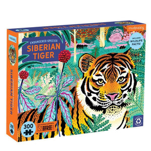 Siberian Tiger Endangered Species 300 Piece Puzzle