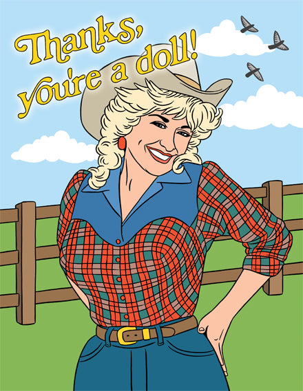 Greeting Card : Dolly Thanks You're a doll