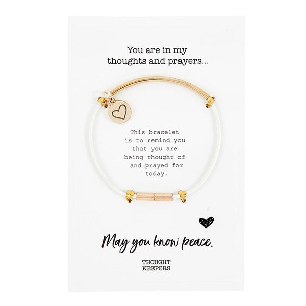 Leather Thought Keepers Bracelet - I Prayed For You white