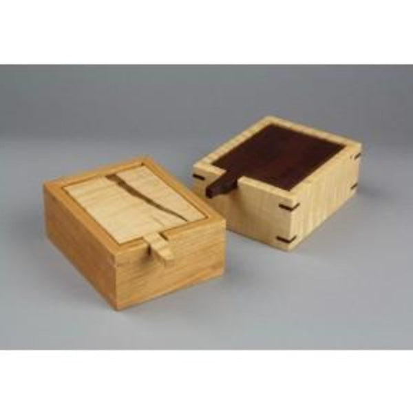 Wood flip top trinket box