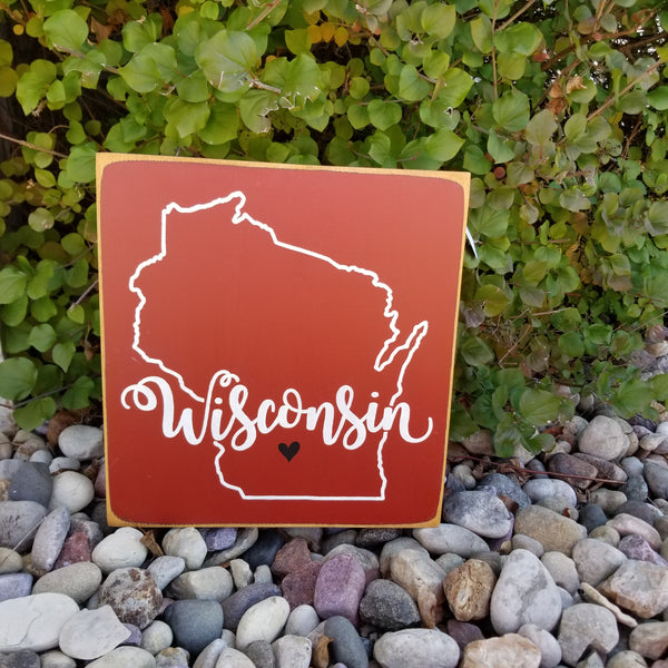 Wisconsin Home Wood Sign | Wisconsin Decor
