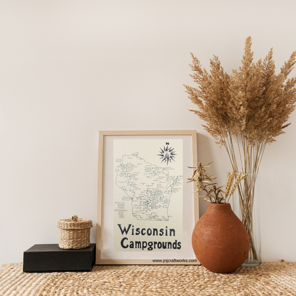 Wisconsin campground map