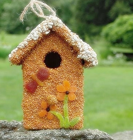 Spring Fruit Bird Cottage - Birdseed House - Bird House