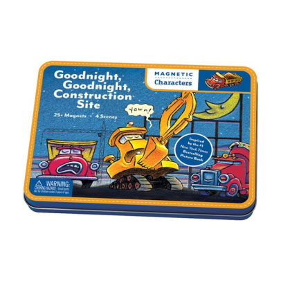 Magnetic Tin Goodnight Construction Travel Puzzle