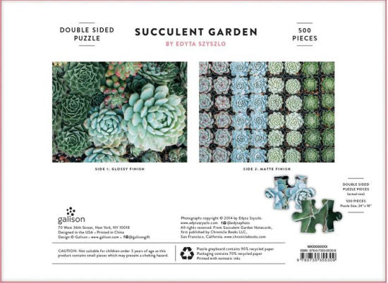 Succulent Garden Two Sided 500 Piece Puzzle