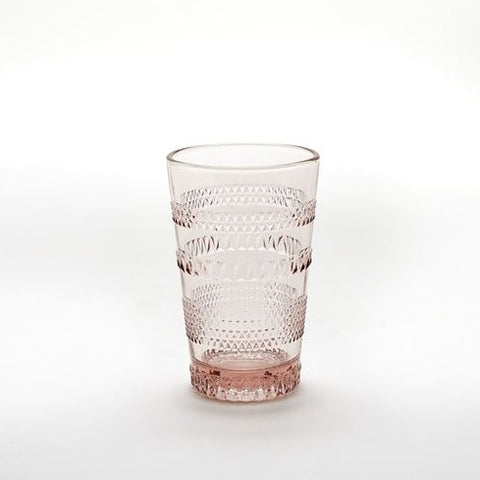 Madison Beverage Tall Glass - Blush Color