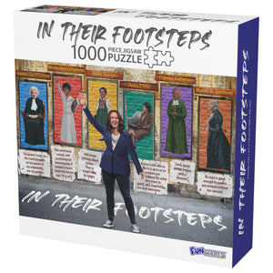 In Their Footsteps Kamala Harris 1000 Piece Puzzle