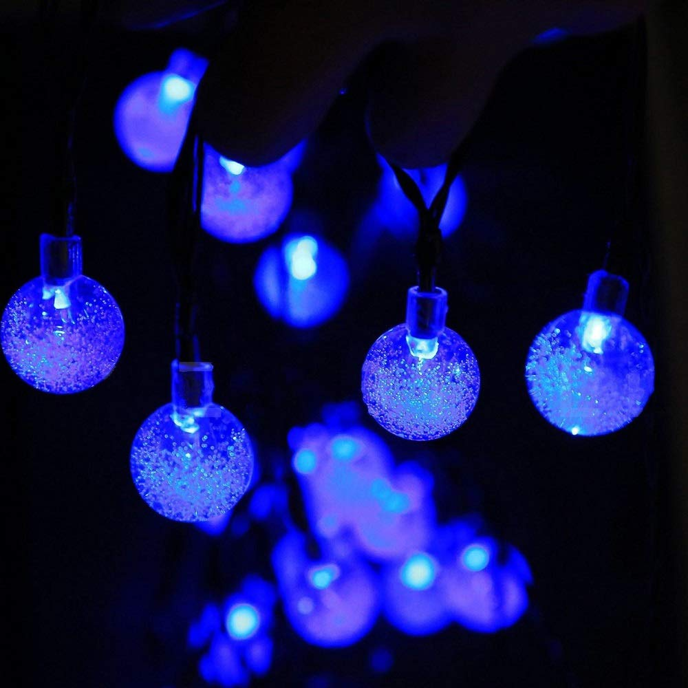 New Globe Solar Powered String Lights