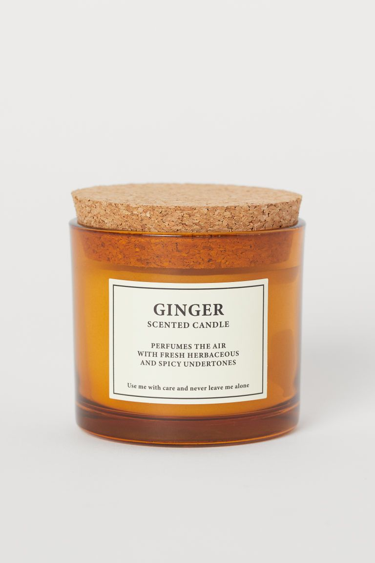 Ginger scented candle