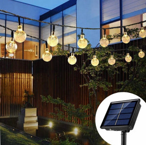 Solar Crystal Balls String Lights