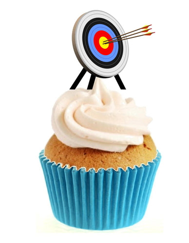 Archery Target Stand Up Cake Toppers (12 pack)