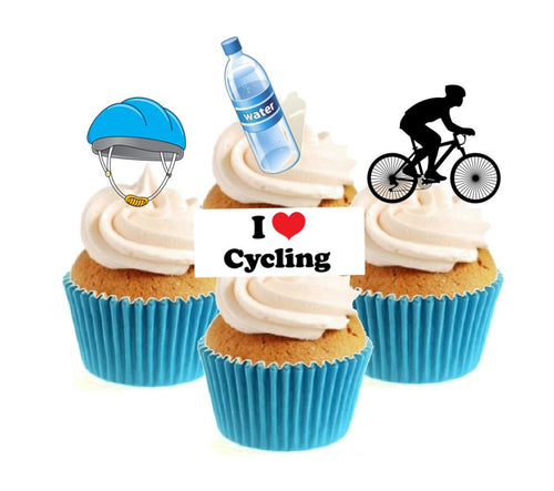 Cycling Collection Stand Up Cake Toppers (12 pack)
