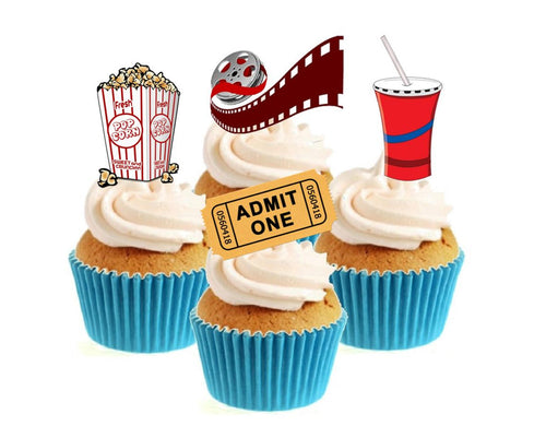 Movie Night Collection Stand Up Cake Toppers (12 pack)