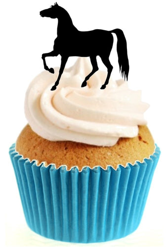 Horse Silhouette Stand Up Cake Toppers (12 pack)