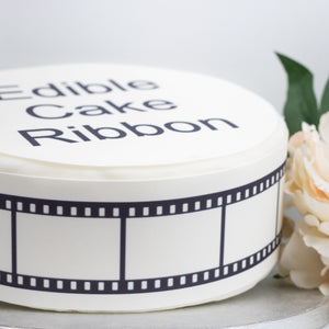 BLANK FILM STRIP EDIBLE ICING CAKE RIBBON / SIDE STRIPS   Use instead of traditional ribbon to decorate the sides of your cakes  Edible fondant icing, perfect for that special occasion