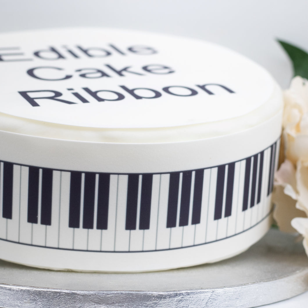 Piano Keys Edible Icing Cake Ribbon / Side Strips