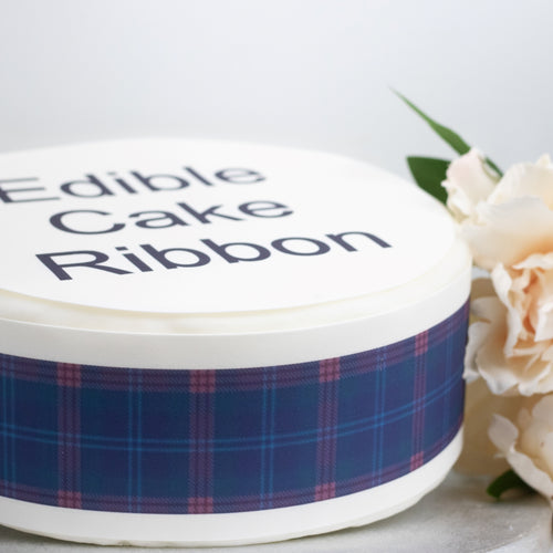 Pride Of Scotland Tartan Edible Icing Cake Ribbon / Side Strips