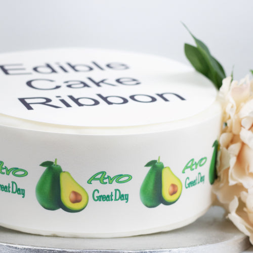 AVO Great Day Edible Icing Cake Ribbon / Side Strips