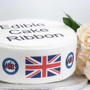 We Are The Mods Edible Icing Cake Ribbon / Side Strips