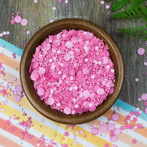 Pretty In Pink Sprinkles Mix Cupcake / Cake Decorations Sprinkles