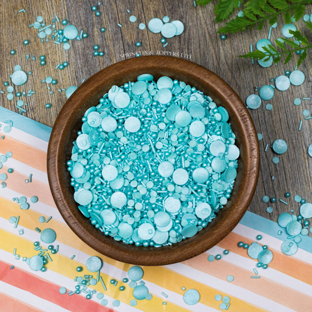 Touch of Turquoise Sprinkles Mix Cupcake / Cake Decorations Sprinkles