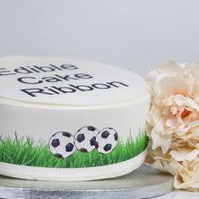 Load image into Gallery viewer, Use instead of traditional ribbon to decorate the sides of your cakes  Edible fondant icing, perfect for that special occasion  Easy to decorate a homemade or shop bought cake - simply peel and apply to the side of your cake