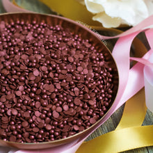 Load image into Gallery viewer, Burgundy Burgundy Confetti & Pearls Sprinkles Mix