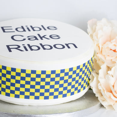 Police Themed Edible Icing Cake Ribbon / Side Strips