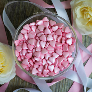 Pink Tablet Hearts Sprinkles Cupcake / Cake Decorations
