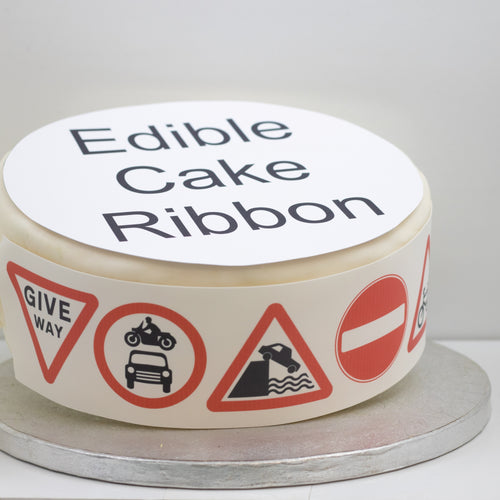 Great British Campout Edible Cake Ribbon