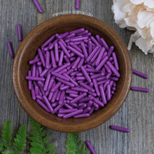 Load image into Gallery viewer, Purple Polished Edible Macaroni Rods