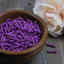 Load image into Gallery viewer, Purple Polished Macaroni Rods (20mm) Sprinkles
