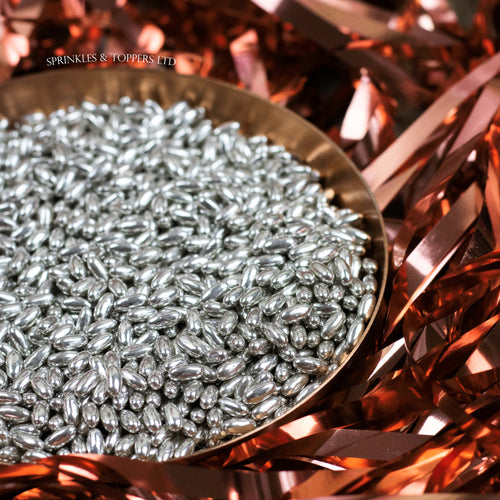 Silver Metallic Rice Sprinkles