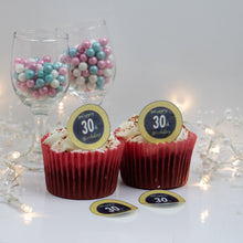Load image into Gallery viewer, Choice of Wafer Paper or Icing discs  Pack contains 30 edible pre cut discs  Ready to be added to your cakes, bakes or shakes